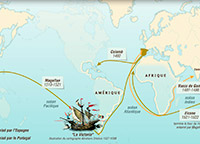 Les aventures maritimes des navigateurs portugais et espagnols