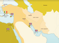 Le partage du Moyen-Orient